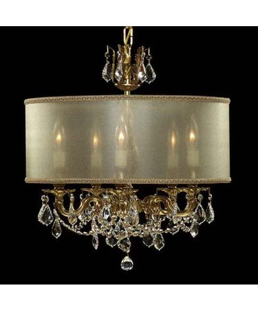 Shown in Polished Brass with Black Inlay finish with Clear Precision Pendalogue crystal and Crystal Frost shade